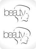 Logo of beauty lounge. With girl profile Royalty Free Stock Photos