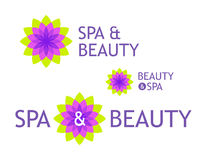 Logo for Beauty Shop and Spa Royalty Free Stock Photos