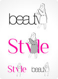 Logo - Beauty & Style Royalty Free Stock Photos