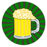 Logo with beer Royalty Free Stock Images