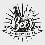 Logo for beer bar on white background stock illustration
