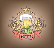 Logo beer Stock Images