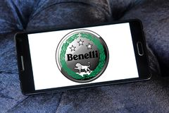 Benelli motorcycles logo. Logo of Benelli motorcycles on samsung mobile. Benelli is one of the oldest Italian motorcycle manufacturers Royalty Free Stock Photo