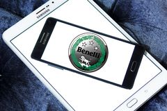 Benelli motorcycles logo. Logo of Benelli motorcycles on samsung mobile. Benelli is one of the oldest Italian motorcycle manufacturers Stock Photos