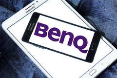 BenQ Corporation logo. Logo of BenQ Corporation on samsung mobile. BenQ is a Taiwanese multi-national company that sells and markets technology products Royalty Free Stock Photos