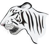 Logo bianco della tigre Fotografia Stock