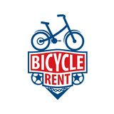 Logo for Bicycle rental. Vector illustration on white background royalty free stock photography