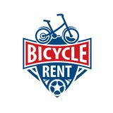 Logo for Bicycle rental. Vector illustration on white background stock photo