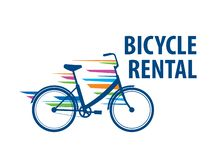 Logo for Bicycle rental. Vector illustration on white background vector illustration