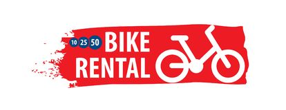 Logo for Bicycle rental. Vector illustration on white background royalty free illustration