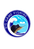 Logo Big game fishing Royalty Free Stock Images