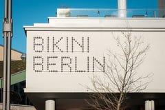 The Brand logo of the `Bikini Berlin` formally Bikinihaus , a concept shopping center in Berlin. Berlin, Germany - january 2019: The Brand logo of the `Bikini stock photography