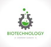 Logo - bioteknik vektor illustrationer