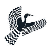 Logo bird black and white  Royalty Free Stock Image