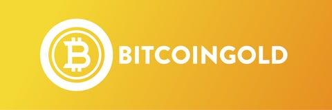 BitcoinGold Yellow Background illustration royalty free illustration