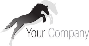 Logo black jumping horse Royalty Free Stock Photos