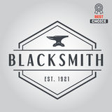 Logo for blacksmith, typographic logotype, badge Royalty Free Stock Photos