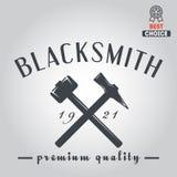 Logo for blacksmith, typographic logotype,  badge Stock Image