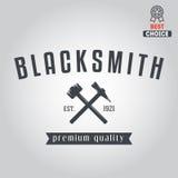 Logo for blacksmith, typographic logotype,  badge Royalty Free Stock Image