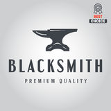 Logo for blacksmith, typographic logotype, badge Stock Photos