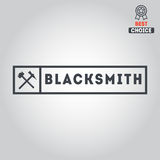 Logo for blacksmith, typographic logotype,  badge Stock Image