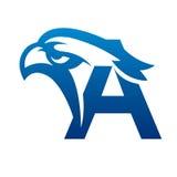 Logo bleu d'Eagle Initial C de vecteur Images libres de droits