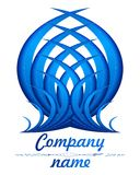 logo bleu de la plume 3D Photo stock