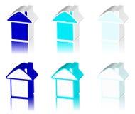 Logo bleu de maison Image stock