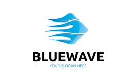 Logo bleu de vague Illustration Stock