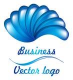 logo bleu de la fan 3D Images libres de droits