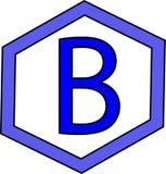 logo blu del poligono di colore Fotografia Stock