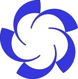 Logo blu di base di colore fotografia stock
