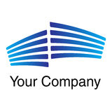 Logo-blue. Blue logo to your company Royalty Free Stock Images
