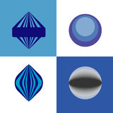 Logo. Blue color. Circles and lines, transparency elements Stock Photography