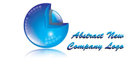 Logo Blue för sfär 3D färg Arkivbilder