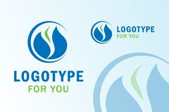Water Gas Logo - Illustration stock illustration