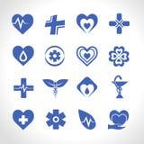 Logo Blue médico Imagens de Stock