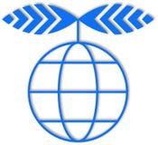 Logo blue planet. Vector illustration Stock Photo