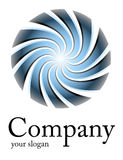 Logo blue spiral Royalty Free Stock Photo