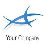 Logo blue triangle shape Royalty Free Stock Photography