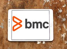 BMC Software company logo. Logo of BMC Software company on samsung tablet. BMC Software, Inc. is an American technology company. BMC produces software and royalty free stock image