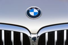 Logo of BMW stock photo