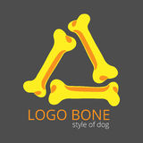 Logo of bones for dogs Royalty Free Stock Photo