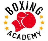 Logo for boxing academy. Vector vintage emblem for a boxing with glove. Vintage logo for boxing academy vector illustration