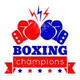 Logo for a boxing Royalty Free Stock Photos
