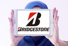 Bridgestone tyre manufacturer logo. Logo of bridgestone tyre manufacturer on samsung  tablet holded by arab muslim woman. Bridgestone Corporation is a Royalty Free Stock Photos