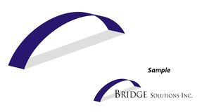 Logo - Bridging Gap Royalty Free Stock Photo