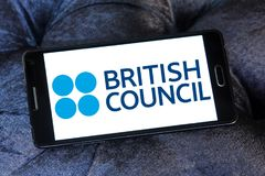 British Council logo. Logo of British Council on samsung mobile. The British Council is a British organisation specialising in international cultural and Stock Image