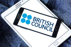 British Council logo. Logo of British Council on samsung mobile. The British Council is a British organisation specialising in international cultural and Stock Photography