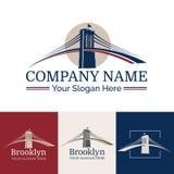 Logo Brooklyn. New York symbol - Brooklyn Bridge - vector illustration Royalty Free Stock Image